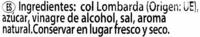 Col lombarda en tiras - DESCATALOGADO - Ingrediënten