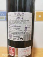 Vino - Informació nutricional