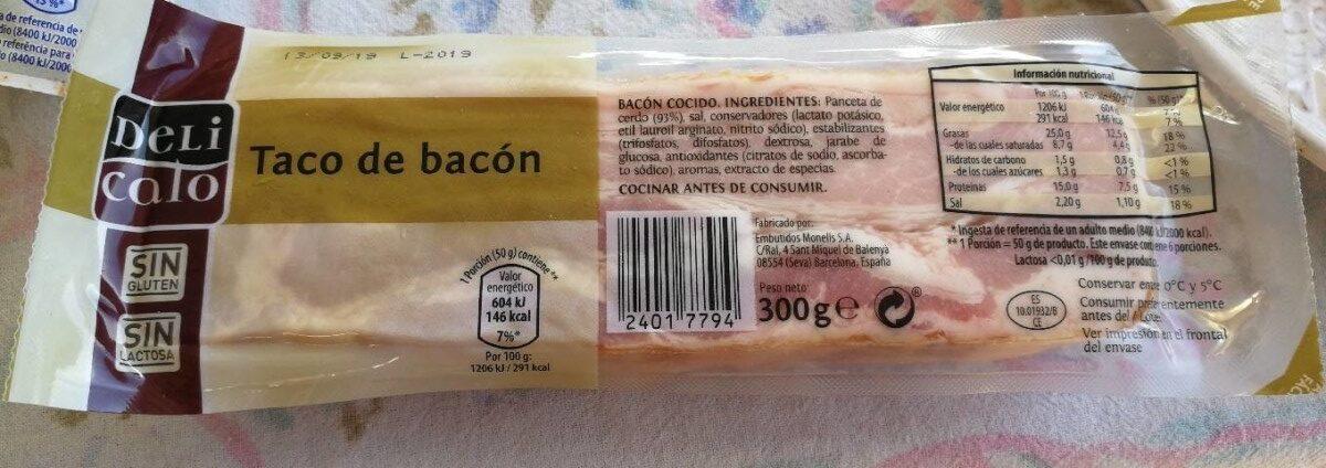 Taco de bacon Delicalo - Produit - es