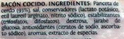Taco de bacon Delicalo - Ingrédients - es