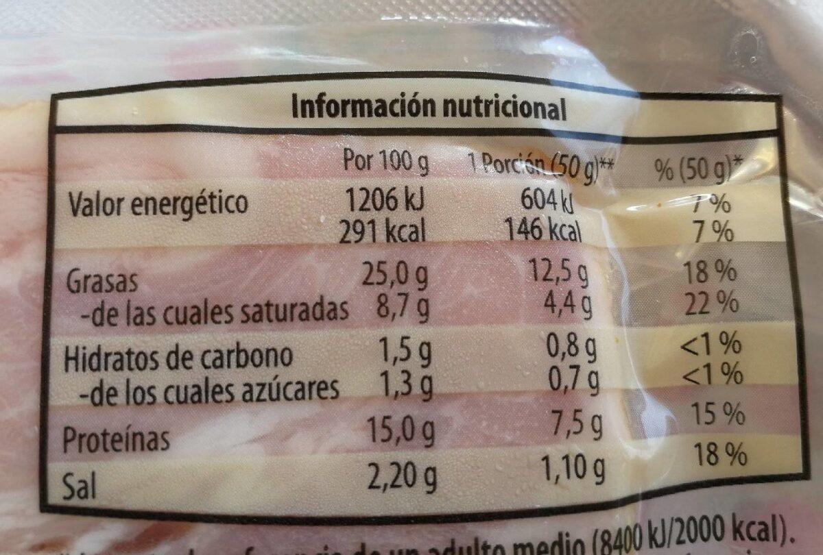 Taco de bacon Delicalo - Informations nutritionnelles - es