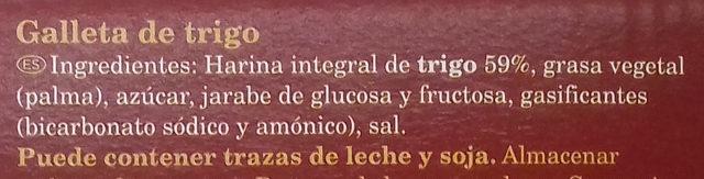 Galletas Digestive Tradicional - Ingredientes - es