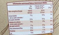 Galletas Digestive Tradicional - Información nutricional - es