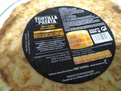 Tortilla de patatas con cebolla caramelizada - Ingrediënten - en