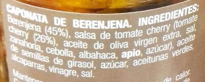 Caponata de berenjena - Ingredients