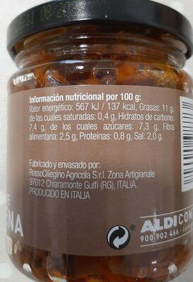 Capibara de berenjena - Información nutricional - es
