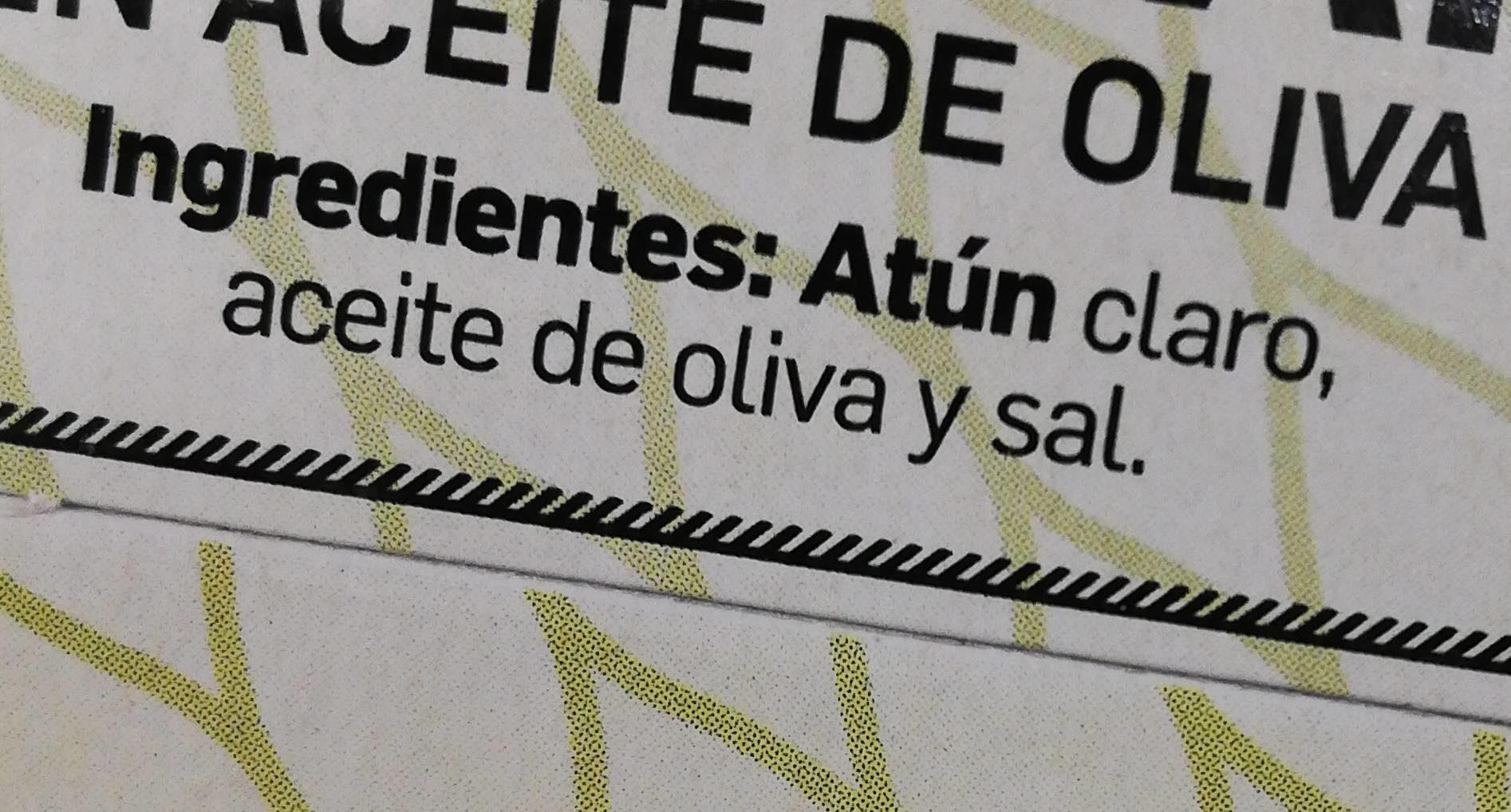 Atún claro en aceite de oliva - Ingredienti - fr