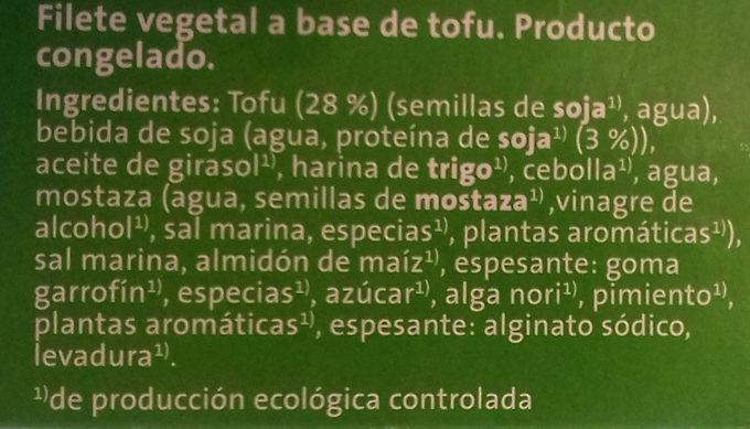 Filete de tofu al estilo bordelesa - Ingredientes