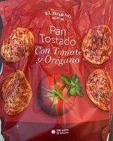 Pan tostado con tomate y orégano - Produit