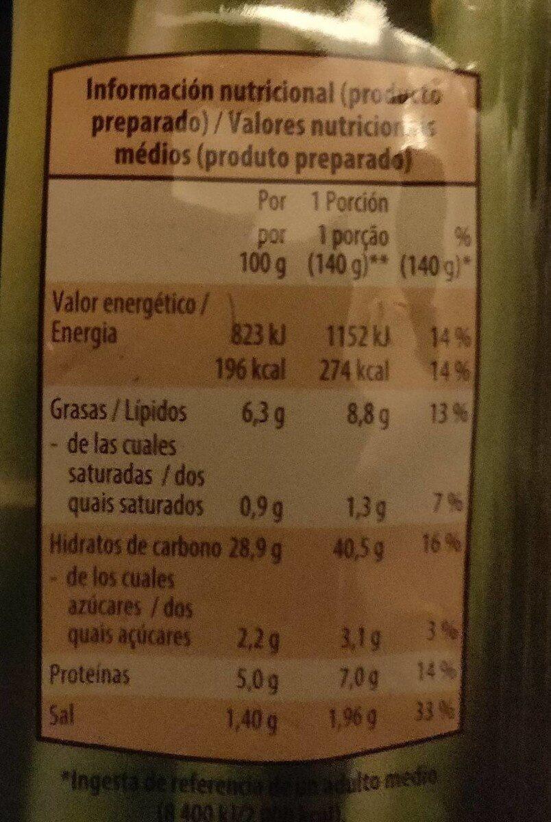 Pasta so frita estilo asiático - Nutrition facts - fr