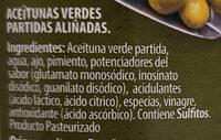 Olives adobades - Aceitunas aliñadas - Ingredientes