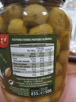 Olives adobades - Aceitunas aliñadas - Nutrition facts