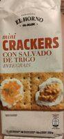 Mini crackers salvado trigo - Product - en