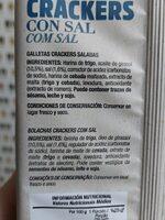 Mini crackers salvado trigo - Ingrediënten - en