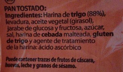Tostadas - Ingredientes - es