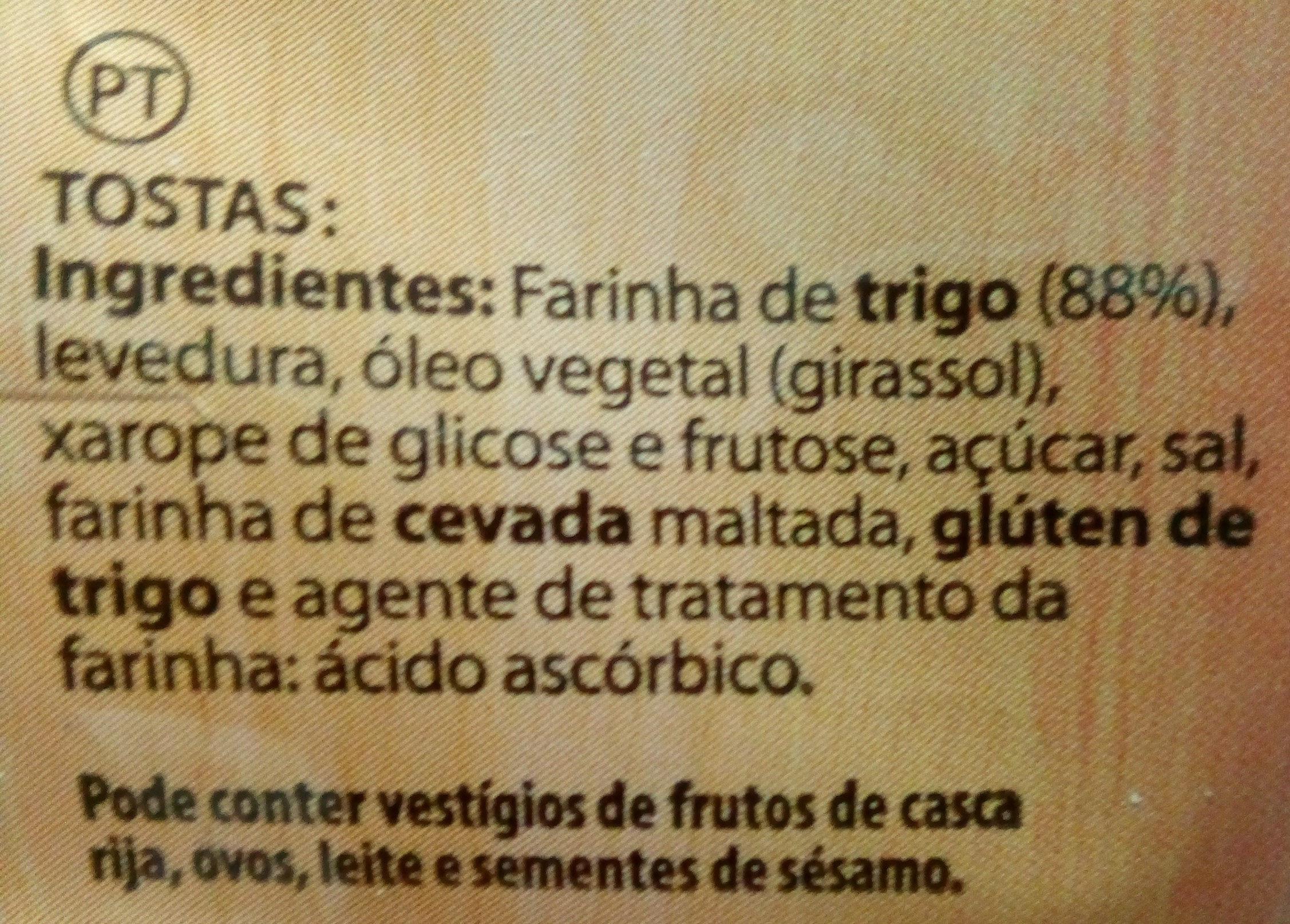 Tostadas - Ingredients - pt