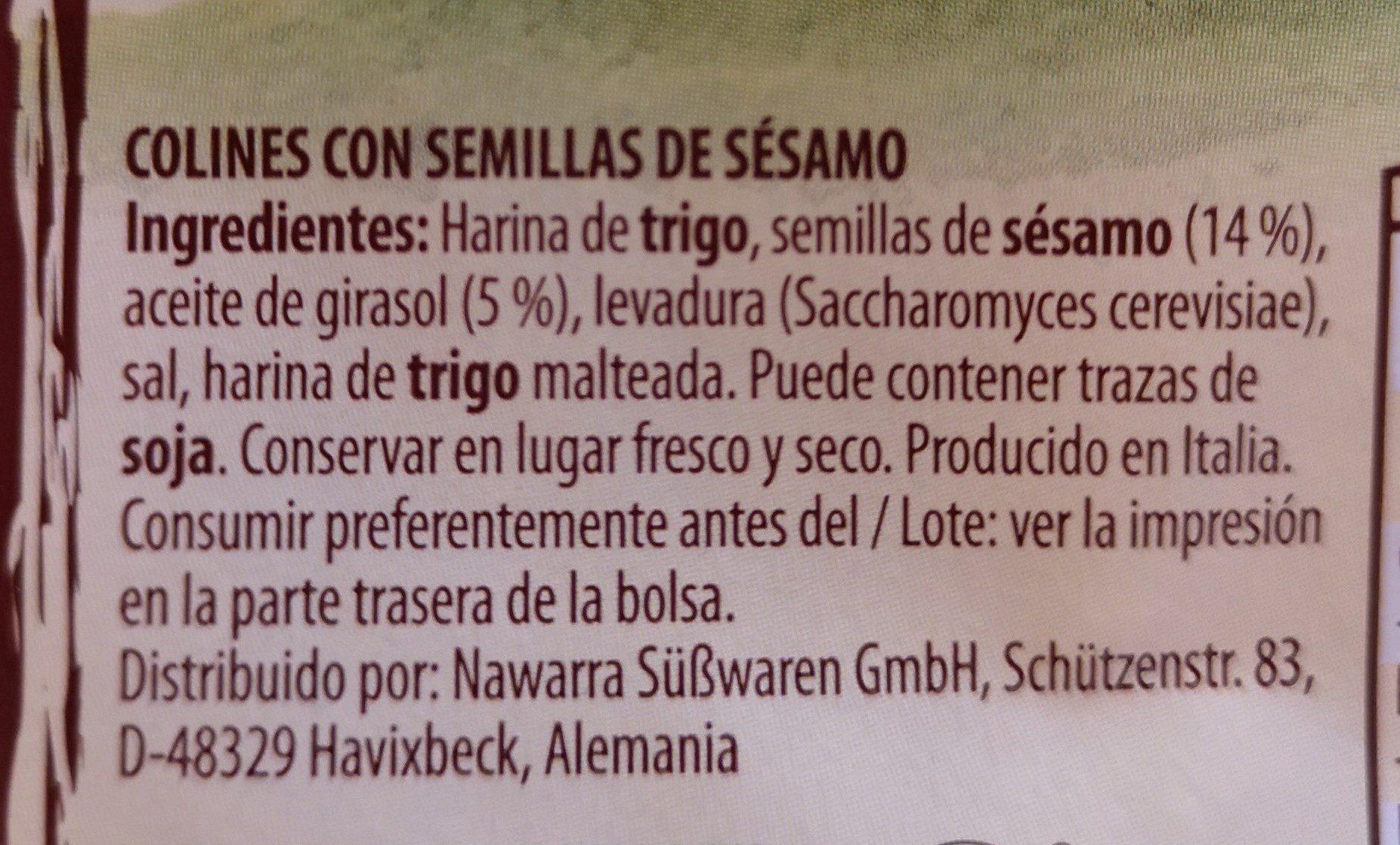 Grissotti Sesame - Ingredientes