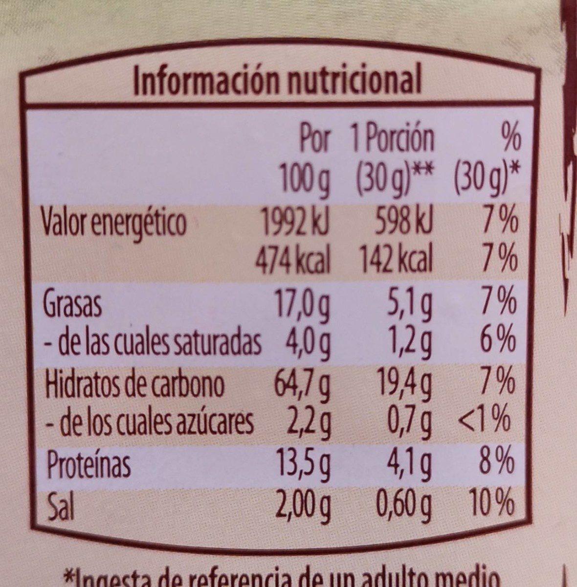 Grissotti Sesame - Información nutricional