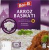 Arroz cocido Basmati