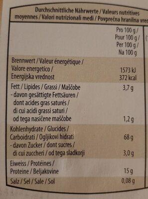 Arroz basmati - Voedingswaarden - es