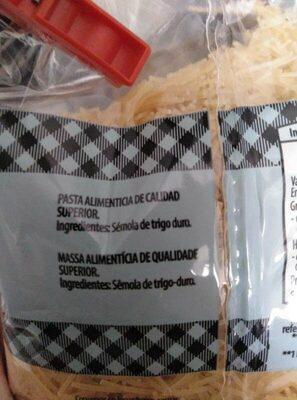 Fideo fino - Ingrediënten