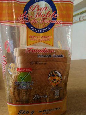 Pan de molde blanco familiar