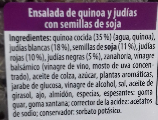 Ensalada de quinoa al curry - Ingredients - es