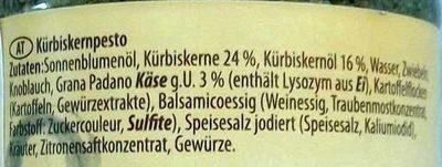 Pesto Kürbiskern - Ingrédients - de