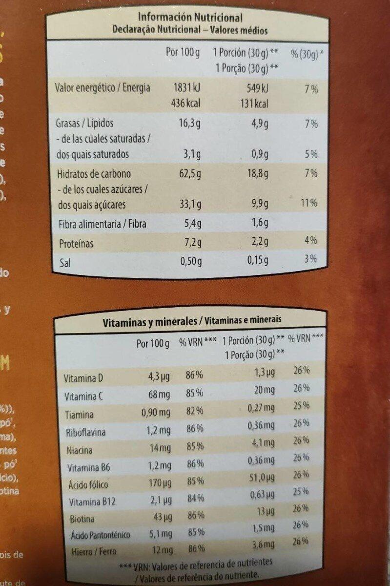 Choco pillows - Información nutricional - es