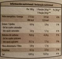 Style con chocolate - Información nutricional - es