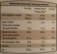 Style con chocolate - Nutrition facts - fr