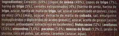 Muesli crujiente - Ingredients - es