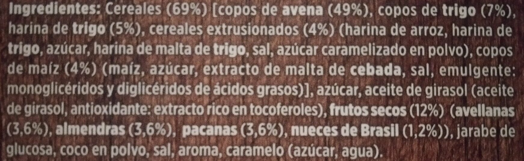 Muesli crujiente - Ingredients - es