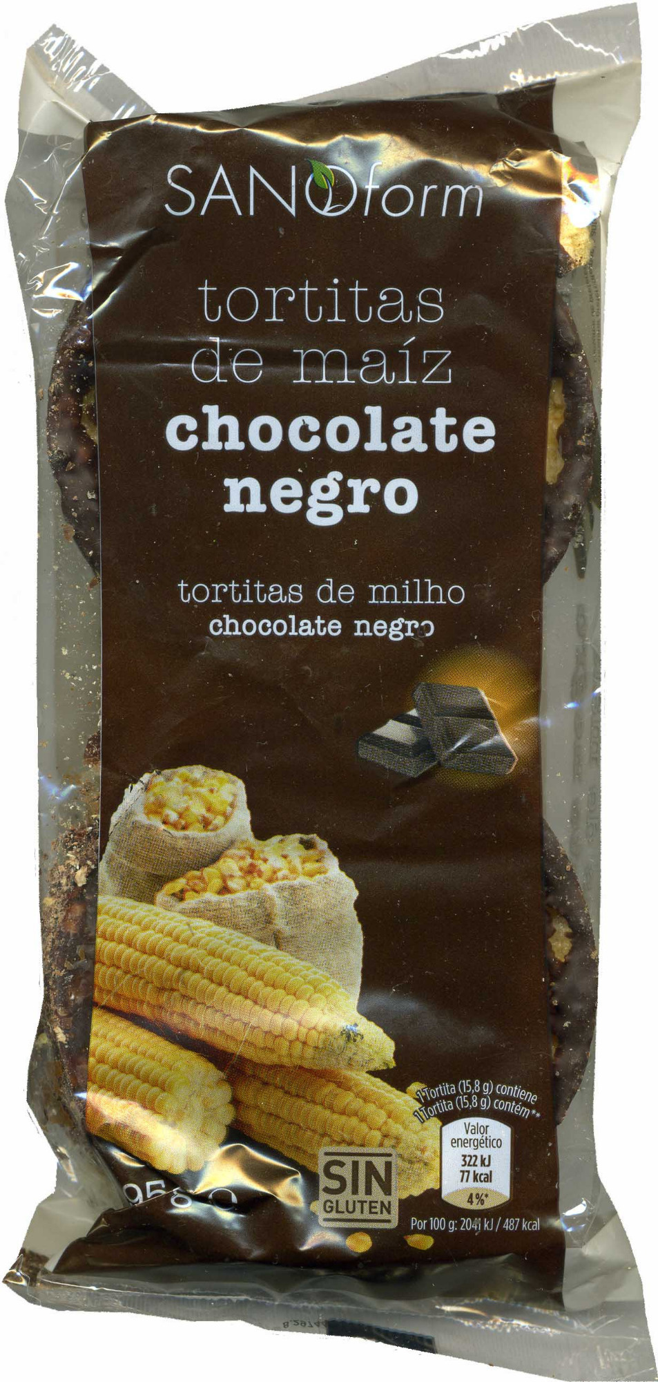 Tortitas De Maíz Con Chocolate Negro - Product