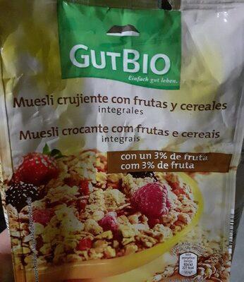 muesli crujiente con frutas y cereales - Produkt - es