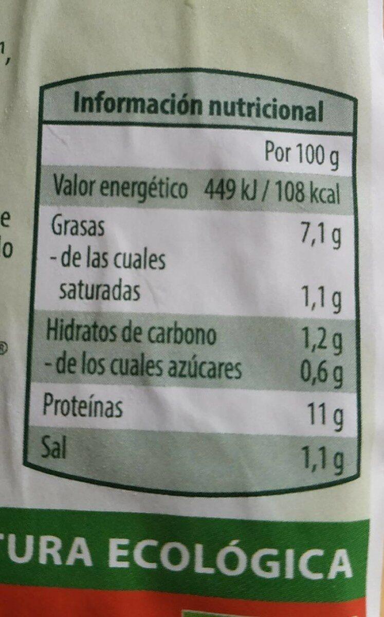 Tofu con almendras y avellanas - Valori nutrizionali - es