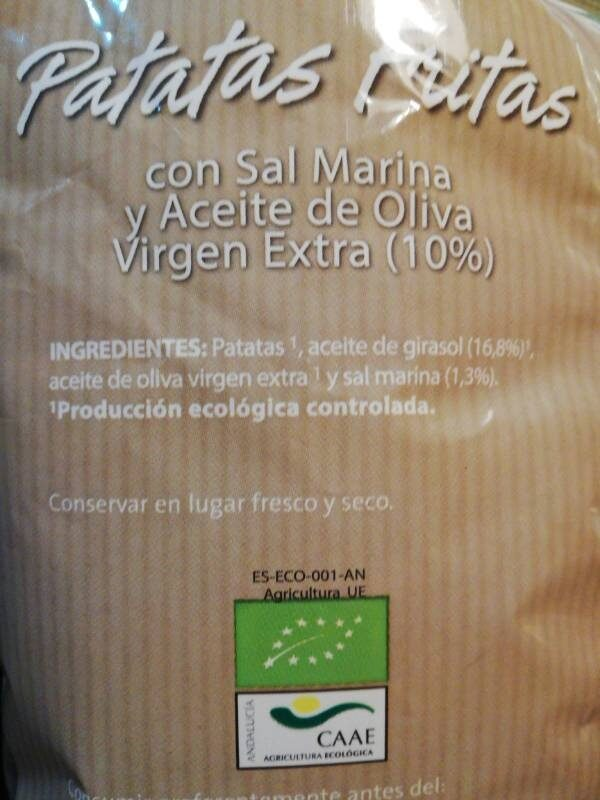 Patatas fritas con sal marina - Ingrédients - es