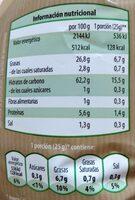 Patatas fritas con sal marina - Informations nutritionnelles - es