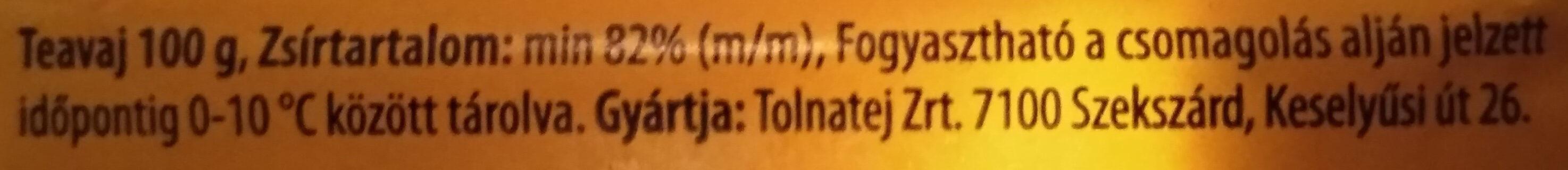 Teavaj - Ingrédients - hu