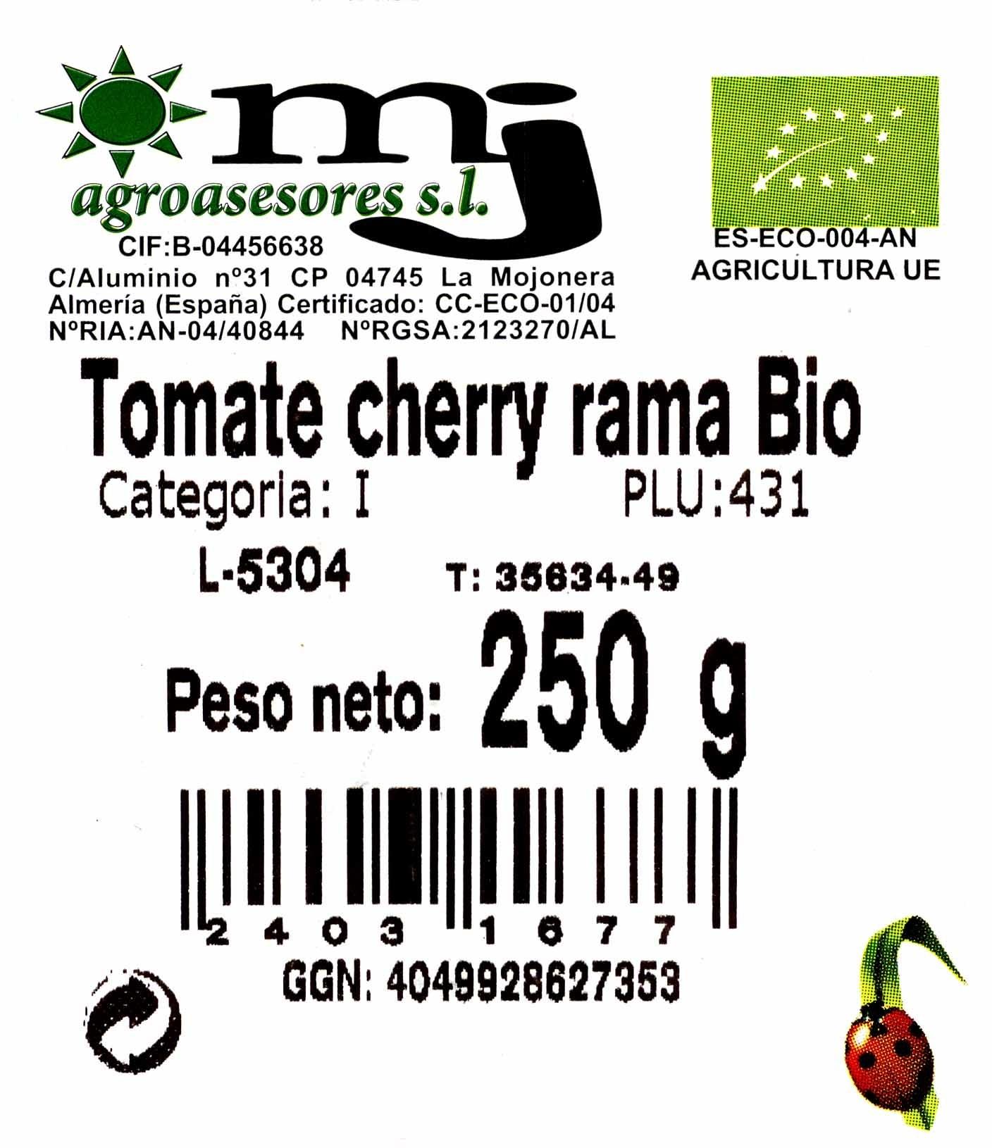 Tomate Cherry Rama Ecológico - Inhaltsstoffe - es