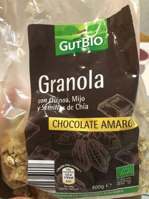 Granola con Quinoa, Mijo, Chia, chocolate amargo