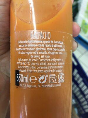 Gazpacho - Ingrediënten
