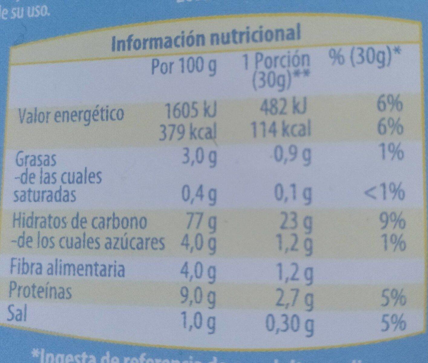 Sarraceno Flakes - Voedingswaarden - es