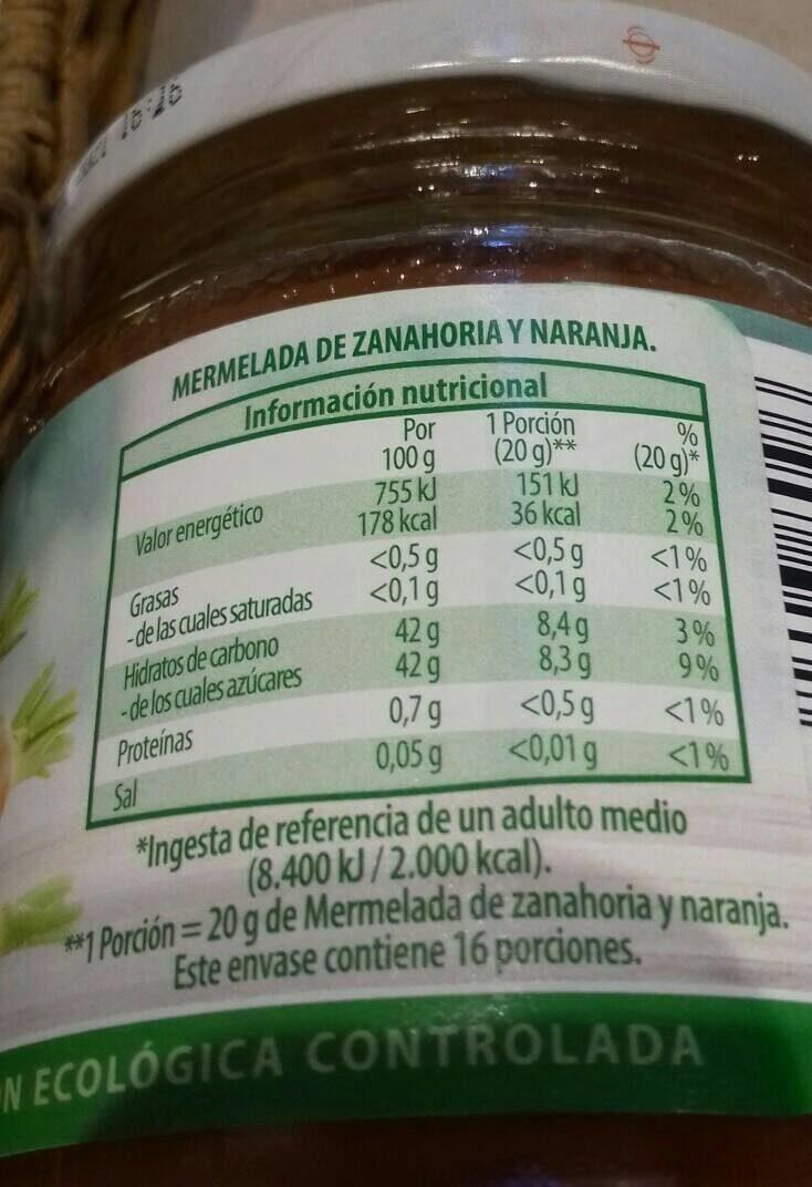 Mermelada de higo - Voedingswaarden - es