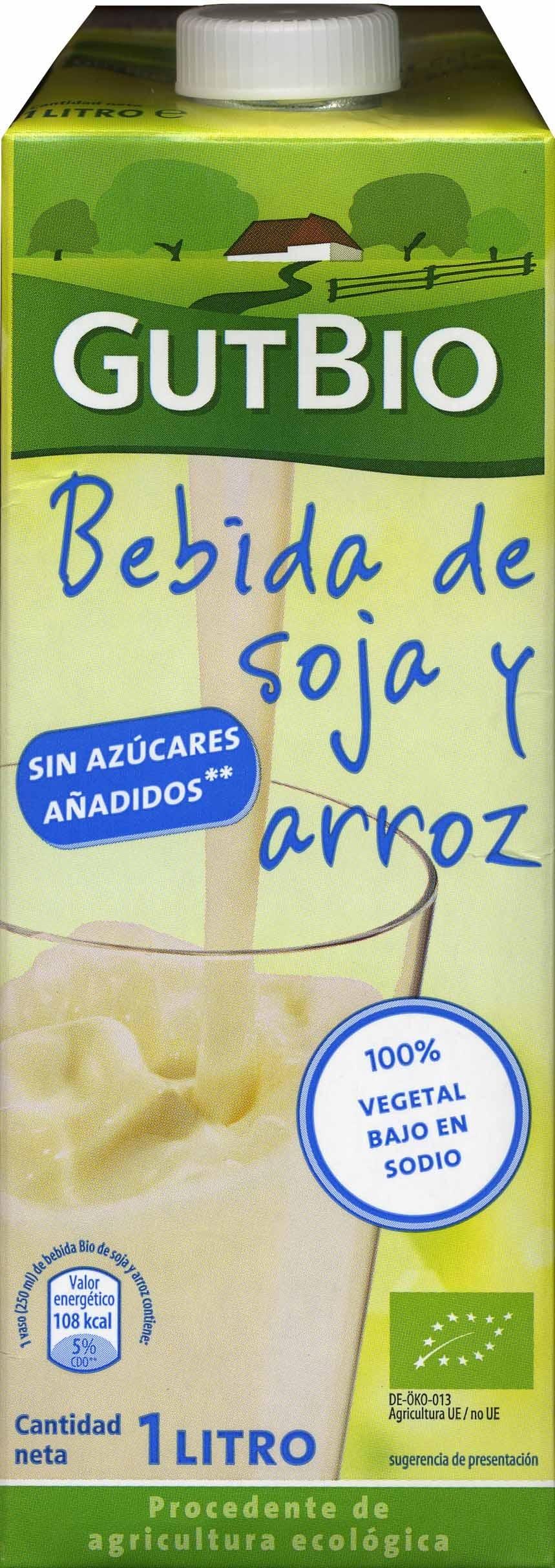 """Bebida de soja y arroz ecológica """"GutBio"""" Natural - Producte"""