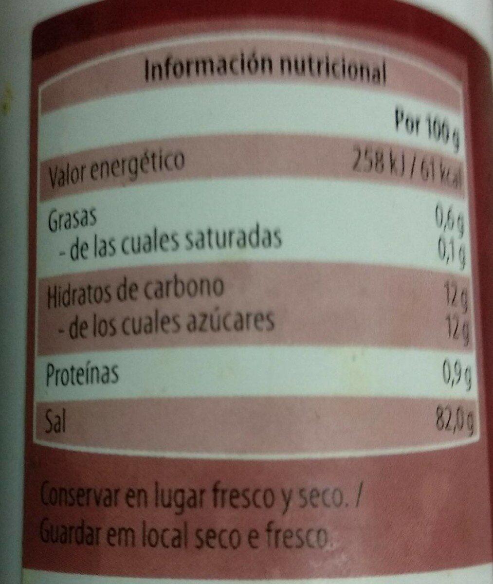 Sal condicionada para tomates - Voedigswaarden