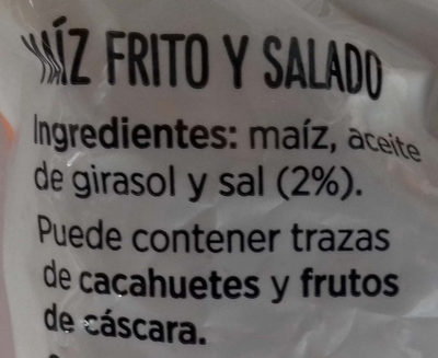 Maíz frito - Ingredients