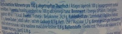 Thunfisch Filets - Voedigswaarden