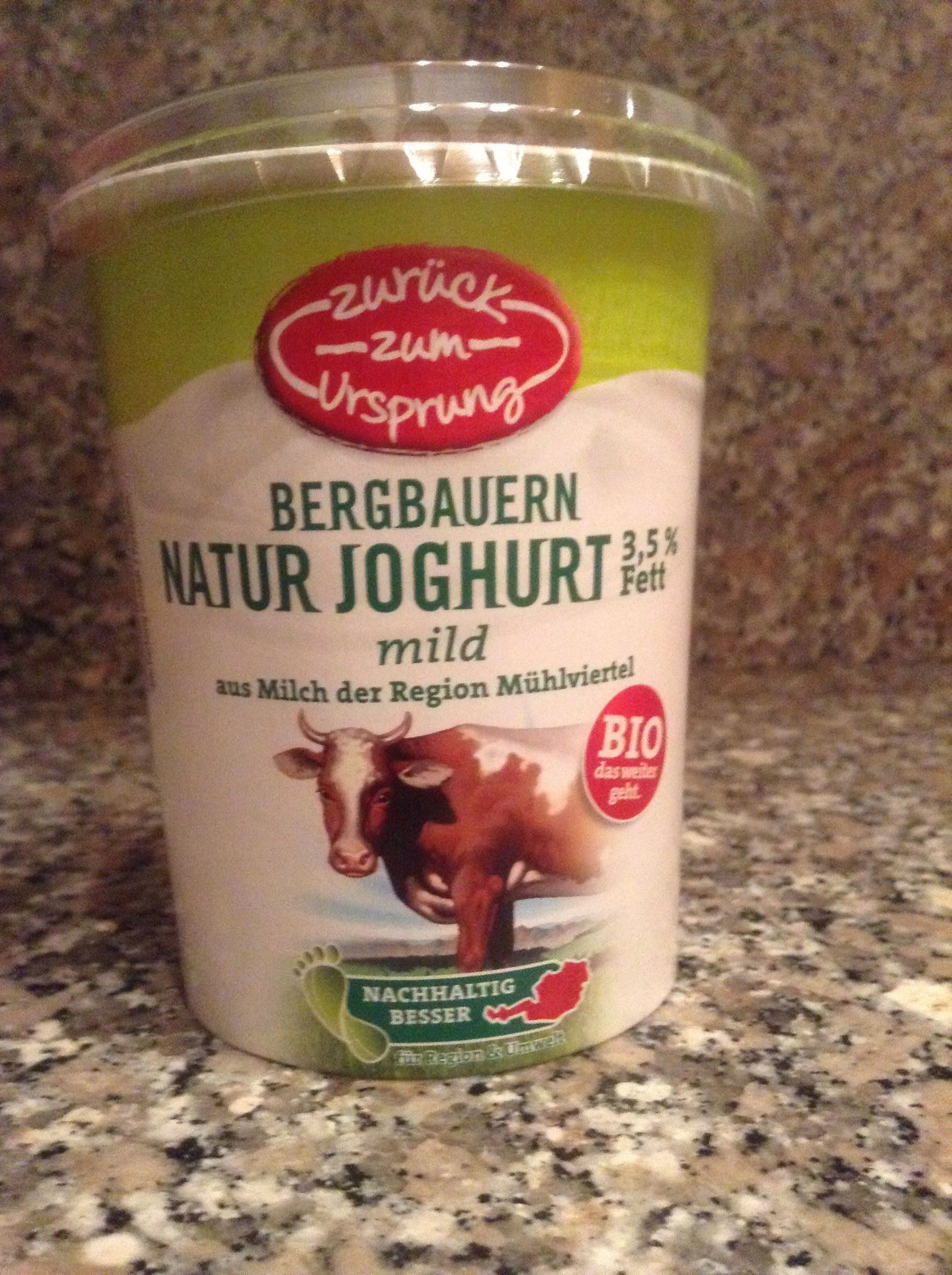 Bergbauern Naturjoghurt - Product