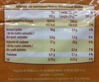 Galletas Tostadas - Información nutricional - es